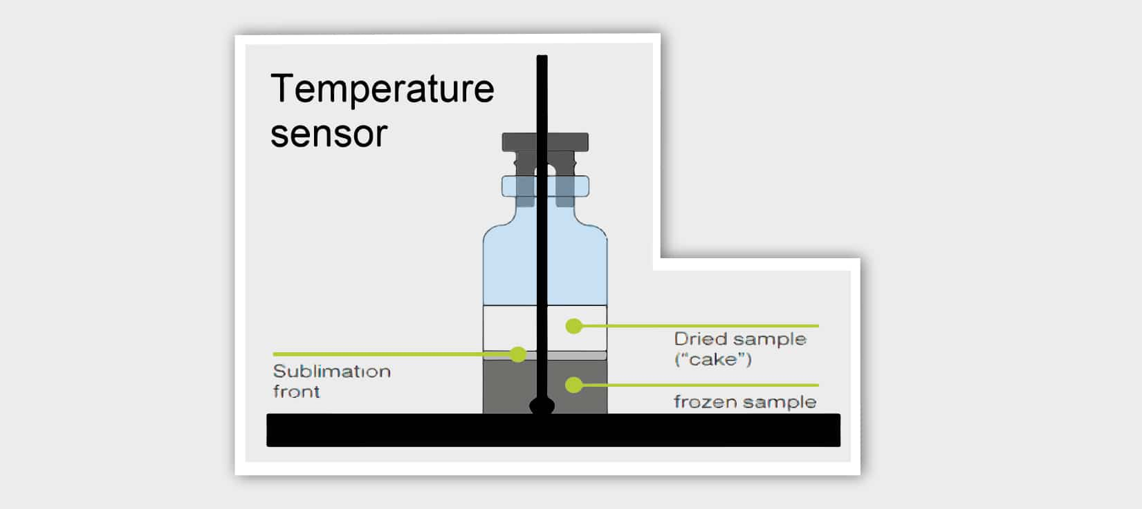freeze-drying, endpoint determination, temperature sensor, thermocouple, dried sample,