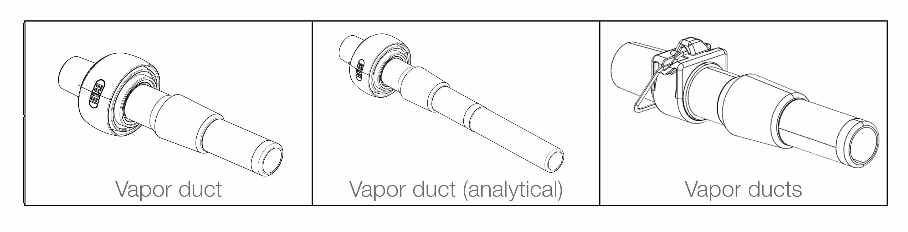vapor duct, analytical vapor duct, rotary evaporation, laboratory evaporation