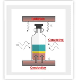 freeze-drying, sublimation, lyophilization, energy input, convection, conduction, radiation